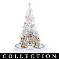 Ebony élégance arbre de Noël Nativité Collection