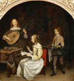 Gerard Terborch II - Concert, Singer and Theorbo Player [c.1657]