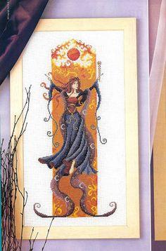 angeles, hadas, sirenas y brujas en punto de cruz (pág. 39)   Aprender manualidades es facilisimo.com