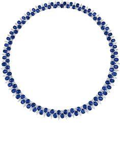 Cellini Jewelers-Sapphire and Diamond Necklace