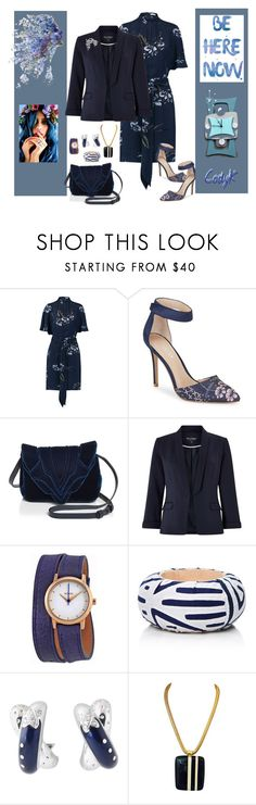 """Navy Floral"" by cody-k ❤ liked on Polyvore featuring Ganni, Charles by Charles David, Elena Ghisellini, Miss Selfridge, Nixon, Mola SaSa, Nouvelle Bague and Lanvin"