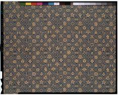 C0010196 名物裂縹地三重襷宝尽し模様緞子 - 東京国立博物館 画像検索
