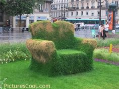 Paris, France. Cool armchair to sit on!