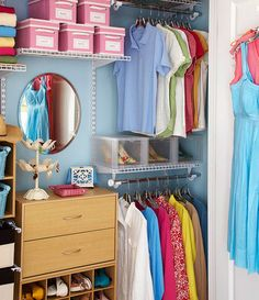 Organize your closet so that everything is visible and accessible. If items are stored in a box, make them visible by putting a label on it. For more tips go to http://decoratingfiles.com/2012/08/10-tips-organizing-your-closet/
