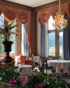 Excited to think about how next time you sit looking out those windows. you'll be dazzled by the sparkle of that winter snow! Palace Hotel, Beautiful Hotels, Window Treatments, Valance Curtains, Windows, Home Decor, Luxury, Decoration Home, Room Decor
