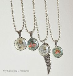 My Repurposed Life {guest post from My Salvaged Treasures} pendants made from flat back marbles - excellent tutorial! Marble Jewelry, Resin Jewelry, Crystal Jewelry, Pendant Jewelry, Jewelry Crafts, Jewelry Ideas, Jewellery, Gem Crafts, Custom Jewelry