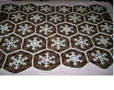 Crocheted Snowflake Afghan PATTERN C-120