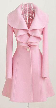 Charming Pink Ruffle Coat ♥