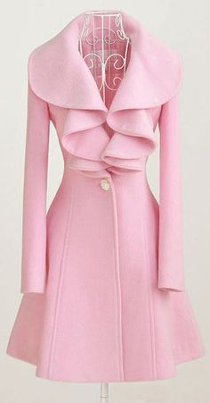 Charming Pink Ruffle Coat ♥