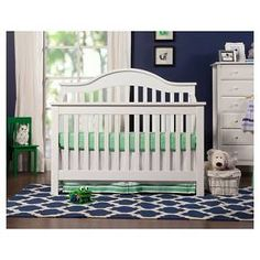 Built to the highest standards of comfort and safety, our Jayden 4-in-1 Crib features an elegantly curved back with simple solid slats. GREENGUARD Gold Certified and constructed from 100% natural solid New Zealand pine wood, the Jayden Crib combines traditional appeal with timeless clean lines. As baby grows, this crib can be converted for use as a toddler bed, daybed and full-sized bed. Pairs with 3-Drawer Changer Dresser (M5925), 4-Drawer Dresser (M4922) and Jayden 6-Drawer Double Wide…
