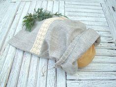 Linen Bread Bag. Natural Linen Bag. Reusable Bread by MissFreesia