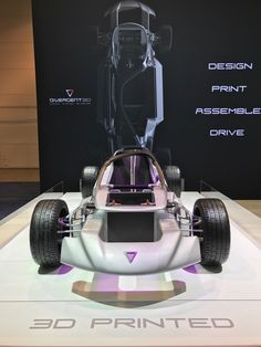 3D Printing: CES 2017: The 3D printed car is here - https://3dprintingindustry.com/news/ces-2017-3d-printed-car-102502/?utm_source=Pinterest