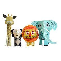 Animales de cartón (Nordicthink)  - Regalos para niños - Xmas Gift Guide for Kids