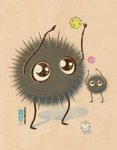 """Squishy Soot Sprites"" by idrawrainbows on DeviantArt.com."