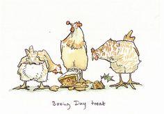 Two Bad Mice Greeting Cards by Anita Jeram: Boxing Day Treat Cute Drawings, Animal Drawings, Anita Jeram, Penny Black Stamps, Drawing Studies, Chicken Art, Galo, Pebble Painting, Watercolor Animals