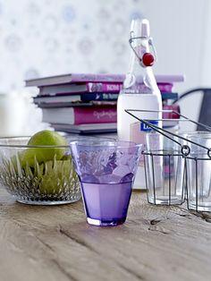 purple glass etc from Bloomingville.  www.bloomingville.com