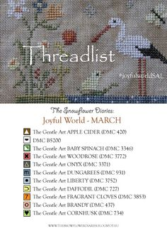 The Snowflower Diaries: JOYFUL WORLD - MARCH (free pattern)