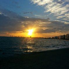 Sunset in Greece.