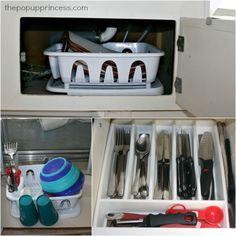 Kitchen Storage in a Pop Up Camper