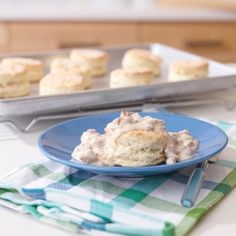 Biscuits and Sausage Gravy - Light, flaky biscuits served alongside a simple, sausage gravy: throughout the Southern states, this tasty combination is breakfast (and comfort) food at its best. The pairing is so popular, many families have a prized recipe that's been passed down through the generations.