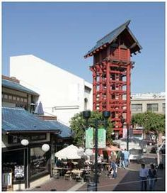 Japanese Village Plaza in Little Tokyo - Downtown Los Angeles Little Tokyo Los Angeles, Tokyo Downtown, Places Around The World, Around The Worlds, Places In California, Southern California, Lookout Tower, City Of Angels, By Train