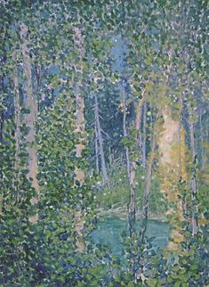 "Frank Hans ""Franz"" Johnston ~ Group of Seven ~ Fireflies Group Of Seven Artists, Group Of Seven Paintings, Tom Thomson, Emily Carr, Canadian Painters, Canadian Artists, Watercolor Trees, Landscape Paintings, Oil Paintings"