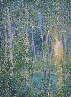 Franz Johnston -Group of Seven-Fireflies