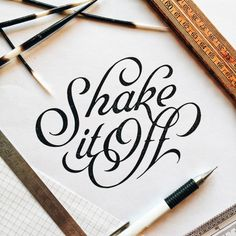 Beautiful Lettering Work by Marco van Luijn | Inspiration Grid | Design Inspiration