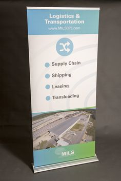 MILS pull-up banner. Designed by Liquid Creative.