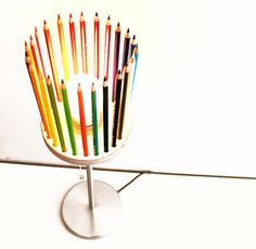 Pencil crayon table lamp by Andreas Janson