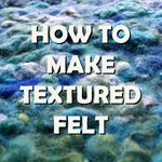 Felt by Zed: Free Tutorials (stitch it btwn organza and huck it in the washing machine)