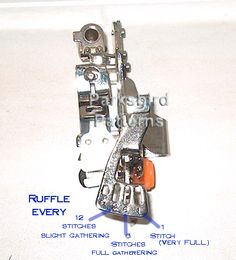 How to use a ruffler attachment. Mine still gives me fits. I think its the machine, I need to break out my old machine and use it for ruffling only.