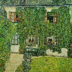Gustav Klimt - Forester's lodge into white-washing brook at the A
