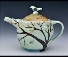 """Resting Bird Teapot"" by Yukari Kashihara"