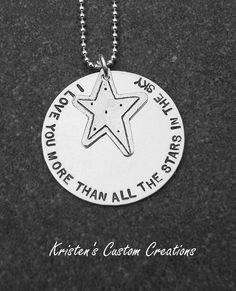 I Love You More Than All The Stars In The Sky Necklace.