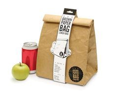 Reusable brown paper lunch bag - it's tear proof, insulated, and so cool.