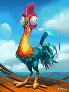 Hei Hei Chicken from Moana on Behance