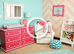 chevron baby girl room - Google Search totally making my little girls room look like this obsessed