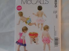 McCall's Diaper Covers and Wings Pattern 6345 by AnnMarieLindsay, $5.99