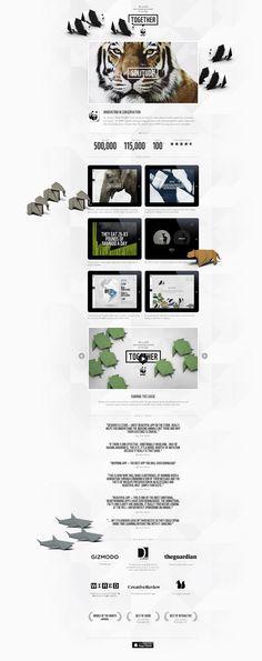Unique Web Design, WWF #WebDesign #Design (http://www.pinterest.com/aldenchong/)