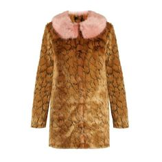 Shrimps Fifi leopard-print faux-fur coat ($593) ❤ liked on Polyvore featuring outerwear, coats, leopard, brown coat, fake fur coats, faux fur coat, polka dot coat and imitation fur coats