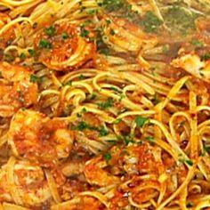 Shrimp and Linguine Fra Diavolo