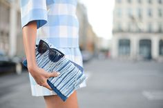 Sky blue gingham {via PopSugar}