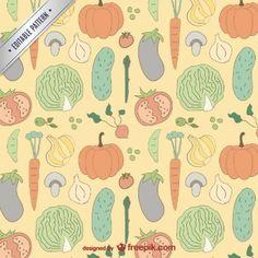 Vegetal padrão colorido