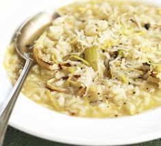 This new way with risotto makes an easy supper for two. For a non-veggie option, just add a few cooked, peeled prawns