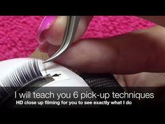Volume Eyelash Extension Tutorial 101: 3D-6D Volume Lash Application - YouTube
