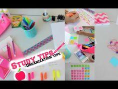 Back to school: Study tips + Organization tips! - YouTube