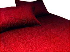 Amazon.com: Cozy Bed 2 Piece Quilt Set, Twin, Solid, Crimson: Home & Kitchen