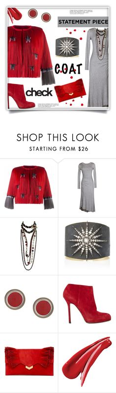 """""""Coat Check"""" by freida-adams ❤ liked on Polyvore featuring Krasimira Stoyneva, Velvet by Graham & Spencer, Chanel, Fred Leighton, Silhouette, Sergio Rossi, Jimmy Choo and Anja"""