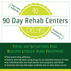 For some 90-day #rehab programs can seem like a huge commitment. The idea of leaving home, family, a job, or other ties to the environment may seem like a big sacrifice for the user and/or his loved ones. http://www.rehabcenter.net/90-day-alcohol-and-drug-rehab-centers/